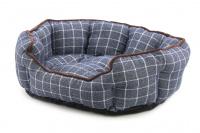Pelíšek pro psy ROSEWOOD dostupný v několika velikostech. Pevný prošívaný materiál, měkké nadýchané bočnice, barva modrá.