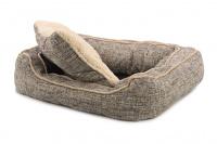 Extra nadýchaný a pohodlný pelíšek pro psy od ROSEWOOD. Materiál tvíd s kožíškem, vyjímatelný oboustranný polštář, možnost praní v pračce. (2)