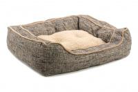 Extra nadýchaný a pohodlný pelíšek pro psy od ROSEWOOD. Materiál tvíd s kožíškem, vyjímatelný oboustranný polštář, možnost praní v pračce. (4)
