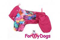 Obleček pro fenky malých až středních plemen – lehoučká pláštěnka FLOWERS PINK od For My Dogs. (5)
