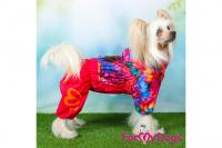 Obleček pro fenky malých až středních plemen – lehoučká pláštěnka FLOWERS PINK od For My Dogs. (6)