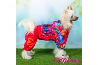 Obleček pro fenky malých až středních plemen – lehoučká pláštěnka FLOWERS PINK od For My Dogs. (7)