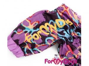 Obleček pro psy – světle fialová pláštěnka pro fenky ForMyDogs LILLAC, detail
