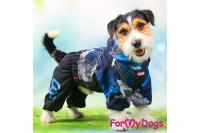 Obleček pro psy malých až středních plemen – lehoučká pláštěnka BLUE od For My Dogs. (6)