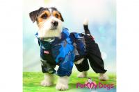 Obleček pro psy malých až středních plemen – lehoučká pláštěnka BLUE od For My Dogs. (7)