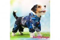 Obleček pro psy malých až středních plemen – lehoučká pláštěnka BLUE od For My Dogs. (8)
