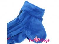 Obleček pro psy – lehoučký overal ForMyDogs BLUE z jednovrstvého plyše. Zvýšený límec, zapínání na zip na zádech. Barva modrá. (2)