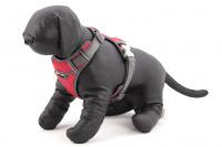 Nastavitelný postroj pro psy od RED DINGO vhodný pro každodenní používání díky podšívce z jemného flísu. Reflexní prvky, dva úchyty na vodítko, barva červená. (4)