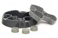 Miska proti hltání psů od HOLLAND ANIMAL. Unikátní tvar misky se třemi oddělenými sekcemi účinně brání psům v hltání. Průměr misky 23 cm, barva šedá. (2)