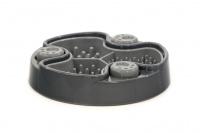 Miska proti hltání psů od HOLLAND ANIMAL. Unikátní tvar misky se třemi oddělenými sekcemi účinně brání psům v hltání. Průměr misky 23 cm, barva šedá.