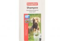 Šampón BEAPHAR vyvinutý pro kočky a psy, kteří často trpí podrážděním kůže (ekzém, po štípnutí hmyzem apod.) Objem 200 ml (3).