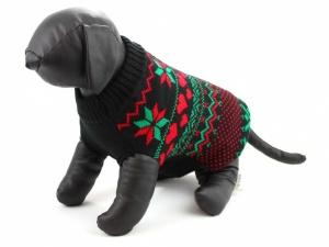 Sváteční svetr pro psy – černý, pohled 2