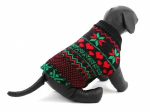 Sváteční svetr pro psy – černý, pohled 4
