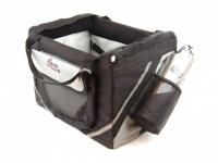 Praktický přepravní box-taška na psa k připevnění na řídítka kola