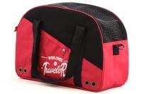 Praktická přepravní taška na psy v precizním provedení a designu BOBBY. Síťovaná vrchní strana, větrací otvory, vyjímatelná podložka. Barva červená (2).