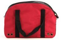 Praktická přepravní taška na psy v precizním provedení a designu BOBBY. Síťovaná vrchní strana, větrací otvory, vyjímatelná podložka. Barva červená (5).