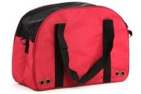 Praktická přepravní taška na psy v precizním provedení a designu BOBBY. Síťovaná vrchní strana, větrací otvory, vyjímatelná podložka. Barva červená (6).