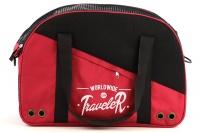 Praktická přepravní taška na psy v precizním provedení a designu BOBBY. Síťovaná vrchní strana, větrací otvory, vyjímatelná podložka. Barva červená (8).