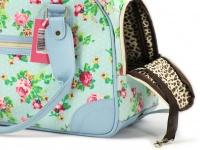 Luxusní prostorná kabelka/taška psy až do 8 kg. Kolekce Urban Pup, řada SUMMER ROSE, doporučená maximální váha psa 8 kg (detail 2)