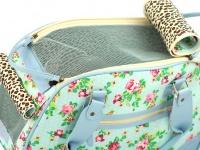 Luxusní prostorná kabelka/taška psy až do 8 kg. Kolekce Urban Pup, řada SUMMER ROSE, doporučená maximální váha psa 8 kg (detail 4)