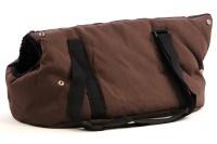 Taška na psy od BOBBY z měkkého a příjemného materiálu vhodná pro štěňata, jorkšíry, čivavy apod. Nosnost 5 kg, barva hnědá (2).