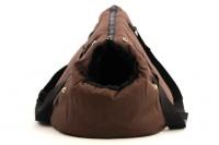 Taška na psy od BOBBY z měkkého a příjemného materiálu vhodná pro štěňata, jorkšíry, čivavy apod. Nosnost 5 kg, barva hnědá (3).