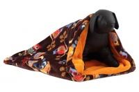 Tulipytlík – originální pelíšek pro psy i kočky z měkoučkého fleecu. Rozměry 50 × 50 cm, vhodný pro malá plemena psů, kočky, fretky apod. (3)