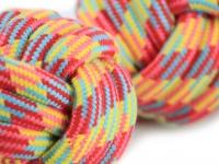 Pevná přetahovací hračka pro psy vyrobená z bavlněného splétaného provazu (detail)