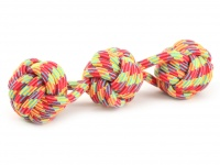 Pevná přetahovací hračka pro psy vyrobená z bavlněného splétaného provazu