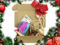 Vánoční box pro psy s vybranými pamlsky a hned dvěma hračkami dle vlastního výběru. Kompletně připravený vánoční dárek – včetně sváteční mašle. (3)