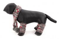 Originální zimní set pro psy – šála na suchý zip a 4 nohavice. Materiál 100% akryl, vhodné pro malé a středně velké psy. (2)