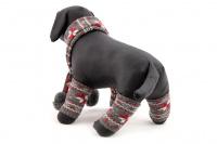 Originální zimní set pro psy – šála na suchý zip a 4 nohavice. Materiál 100% akryl, vhodné pro malé a středně velké psy. (3)