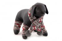 Originální zimní set pro psy – šála na suchý zip a 4 nohavice. Materiál 100% akryl, vhodné pro malé a středně velké psy. (4)