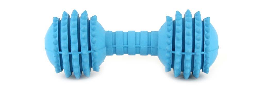 Gumová hračka pro psy z odolné gumy s ideální tvrdostí, která při kousání stimuluje a masíruje dásně