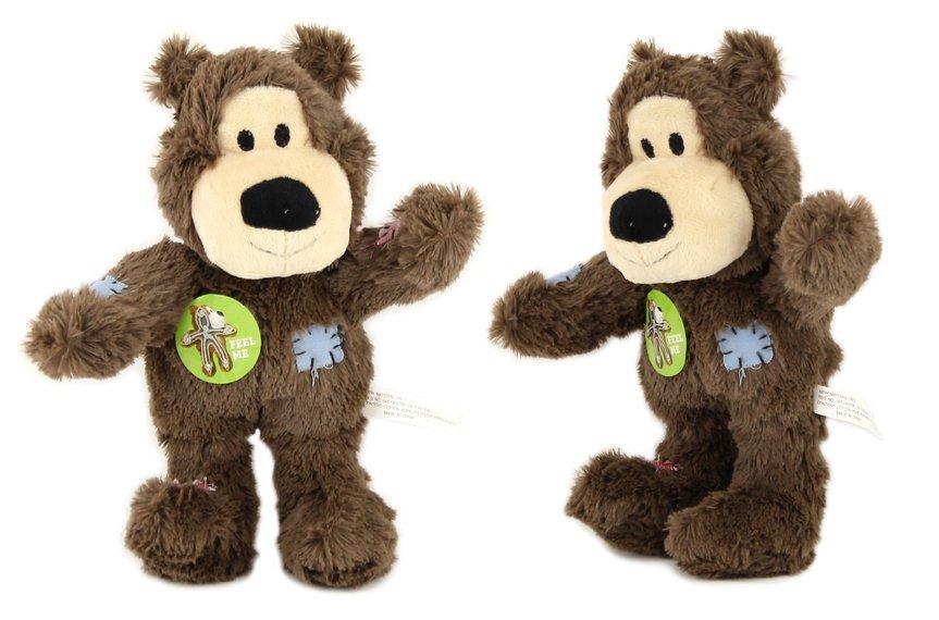 Pevná plyšová hračka pro psy – medvěd. Příjemný hebký materiál, uvnitř pevný provaz