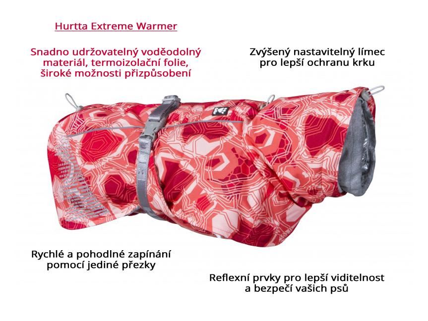 oblecek-hurtta-extreme-warmer-camo-coral-cervena