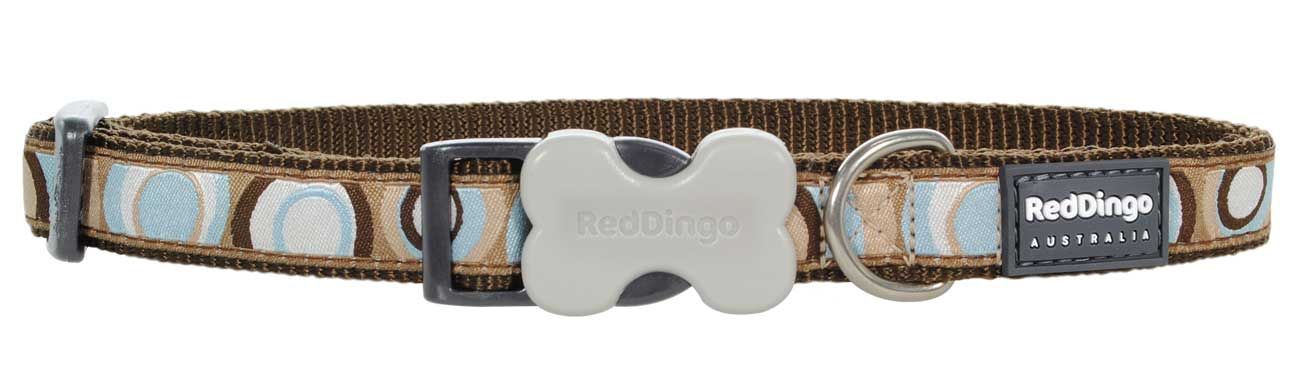 Obojek pro psa RED DINGO – Circadelic Brown