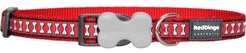 Reflexní obojek pro psa, červený