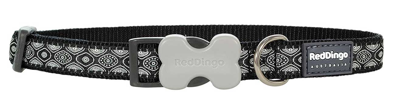 Obojek pro psa RED DINGO – Snake Eyes Black