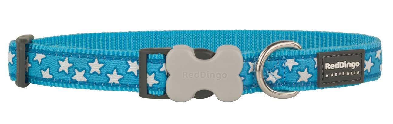 Obojek pro psa RED DINGO – Star Turquoise