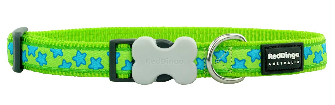 Obojek pro psa RED DINGO – Stars Lime Green