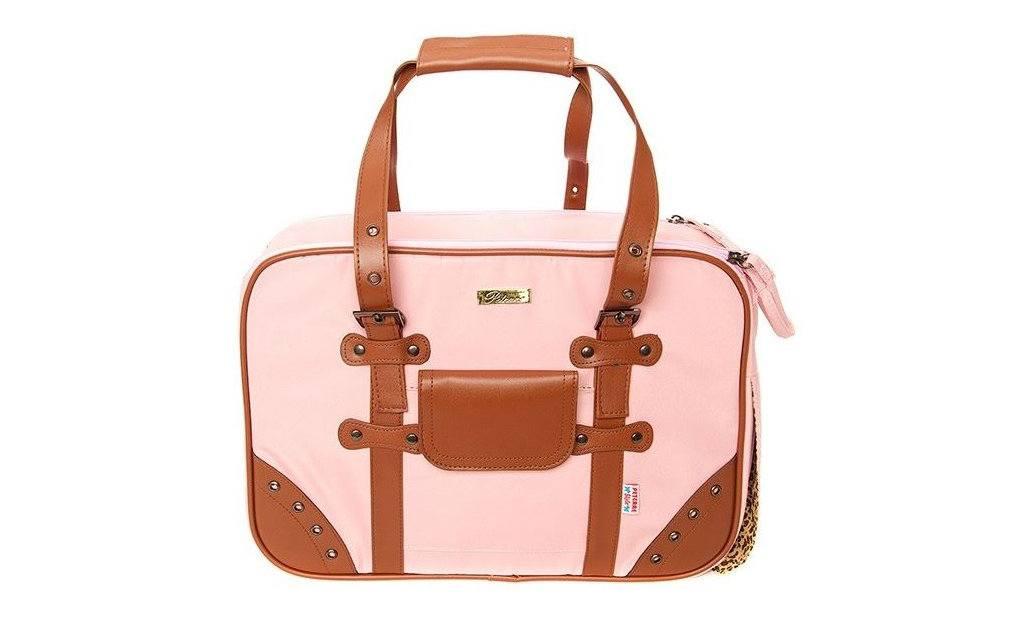 Luxusní růžová taška pro psy až do 8 kg